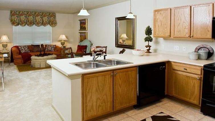 Kitchen at the  Walton Lakes Serviced Apartment