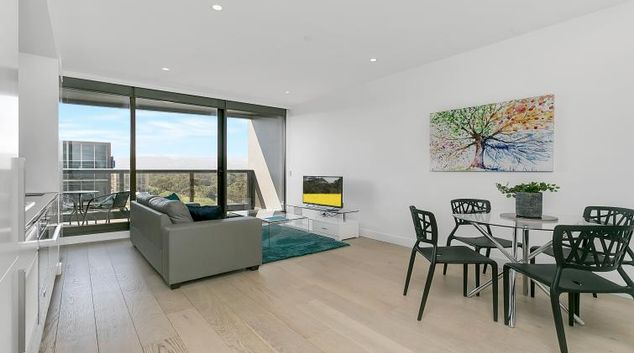 Living room at Astra Adelaide Vue Apartments