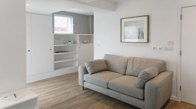 Living area at Devonshire Road Apartments