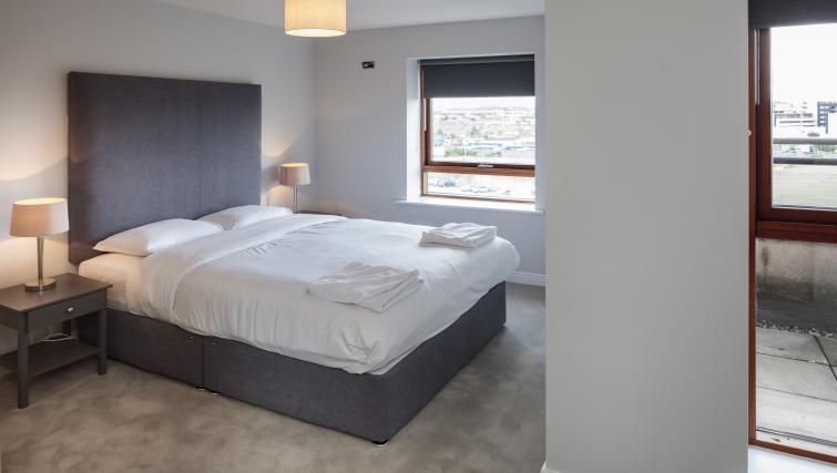 Bedroom at Castleforbes Square Apartments