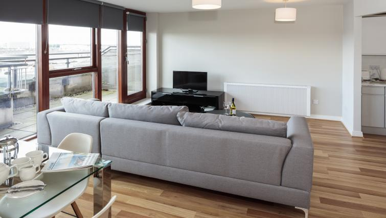 Modern lounge at Castleforbes Square Apartments