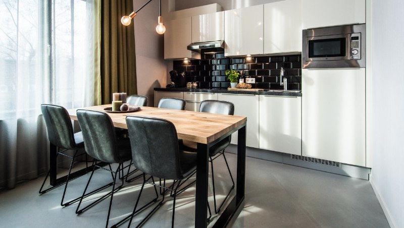 Kitchen at Eastern Docklands Apartments, Amsterdam
