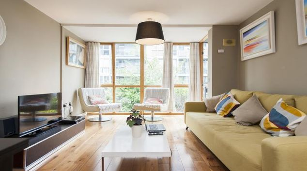 Living room at Gasworks Serviced Apartment