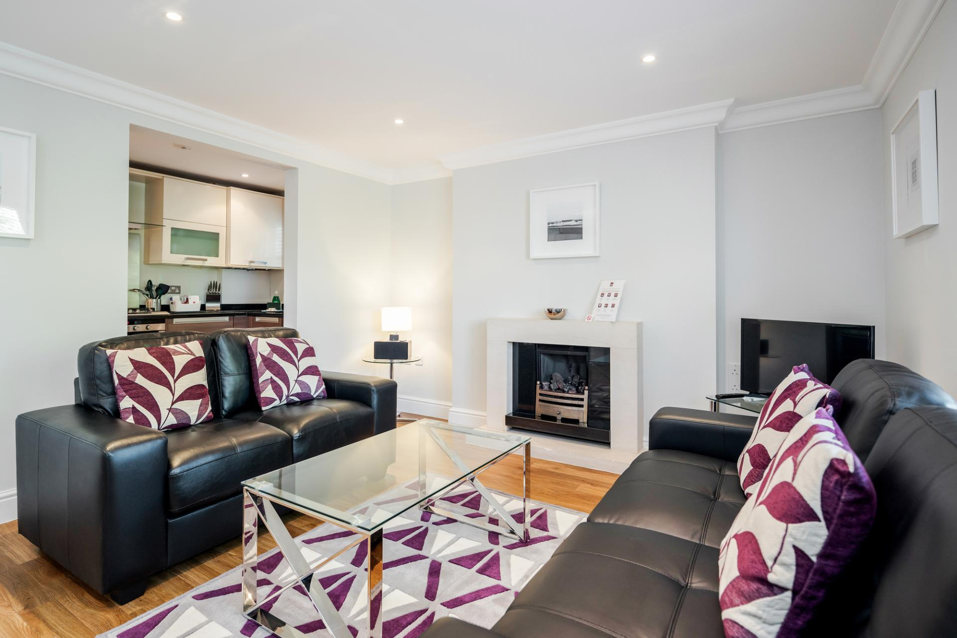 Living area at Little Orchard Place Apartments, Centre, Esher