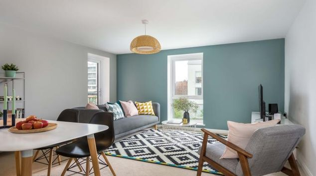 Living room at Coventry Scandi Apartment