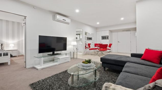 Living room at Astra Perth Murray Street West Apartments