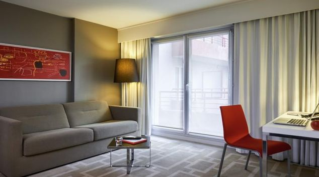 Living room at the Hipark by Adagio Marseille