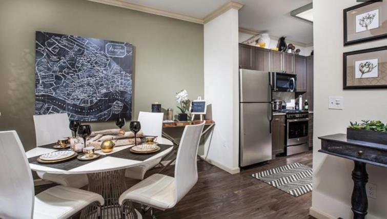 Living area at Verdant Apartments
