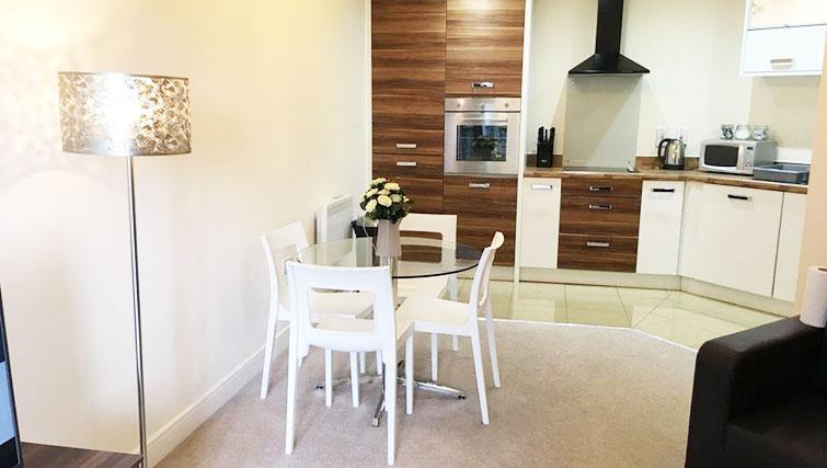 Dining area at Wallis Square Serviced Apartments