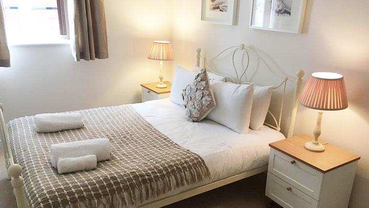Bright bedroom at Wallis Square Serviced Apartments