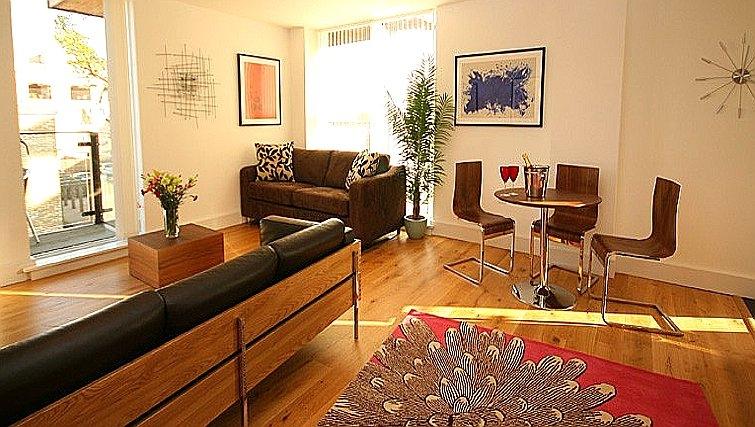 Stylish living area at Accordia Apartments (Kingfisher Way)