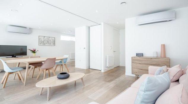 Living room at LCS Berwick Street Apartments
