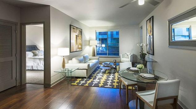 Living room at Edgewater NCH Apartment