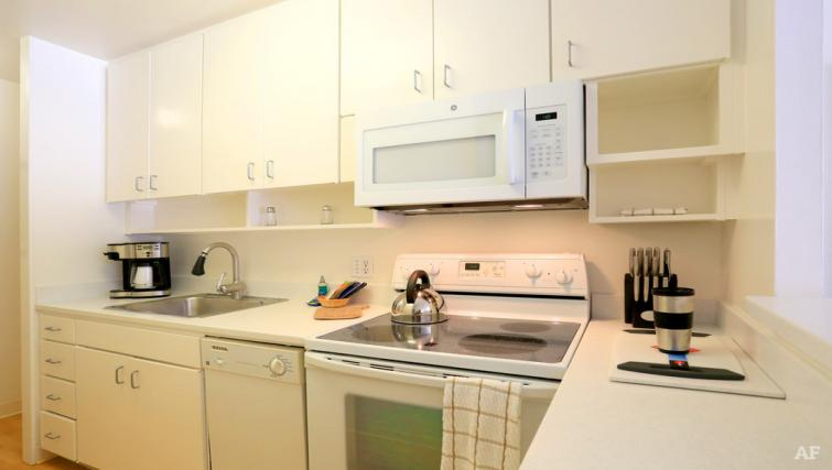 Kitchen at The Gateway Vista North Apartment