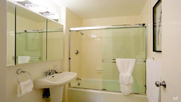 Bathroom at The Gateway Vista North Apartment
