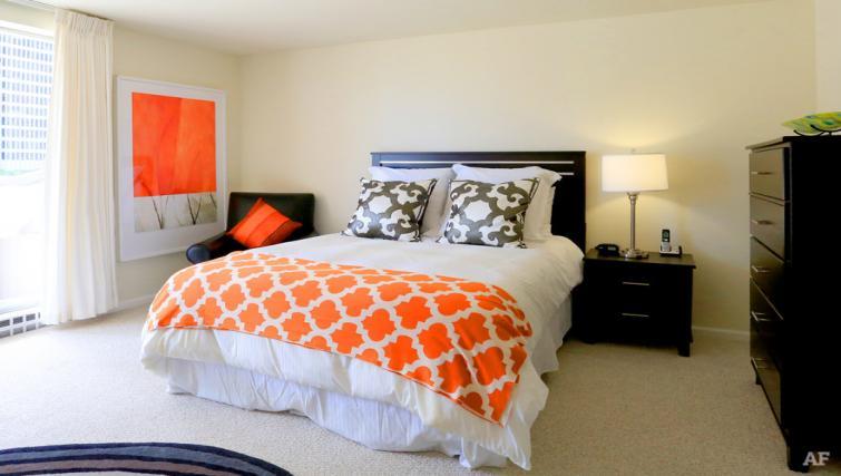 Bedroom at The Gateway Vista North Apartment