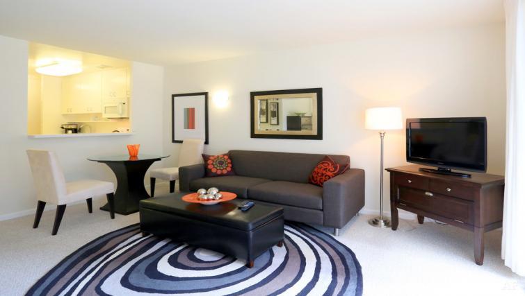 Living room at The Gateway Vista North Apartment