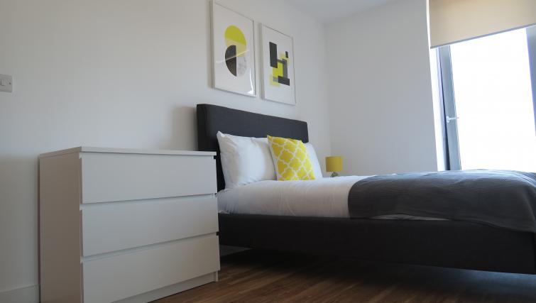 Bright bedroom at Quay Apartments @ Michigan