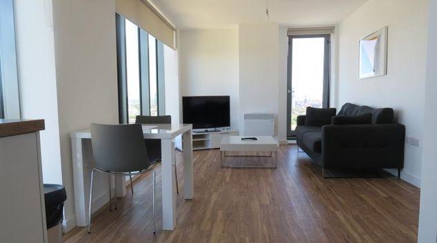 Living room at Quay Apartments @ Michigan