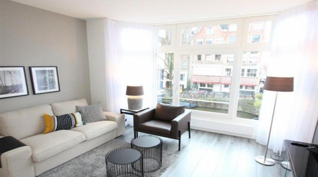 Living room at Jordaan Canal Apartment, Amsterdam