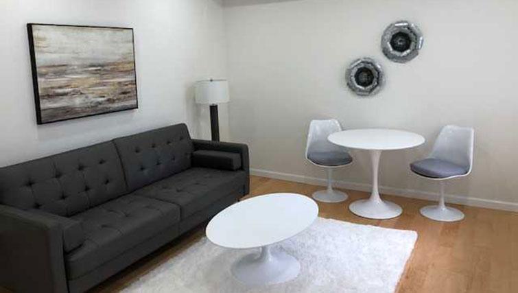 Living area at Executive Plaza Apartments