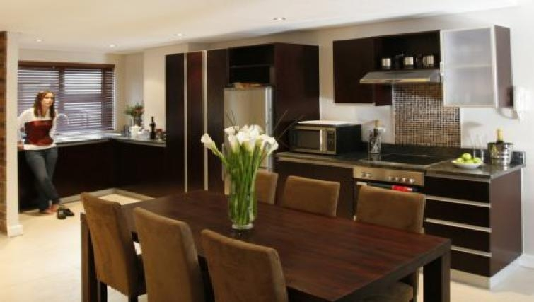 Stylish dining area in Rockwell All Suite Hotel & Apartments