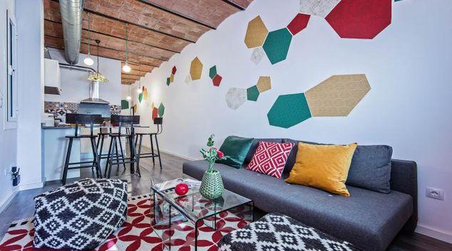 Living room at Sagrada Familia View Apartment