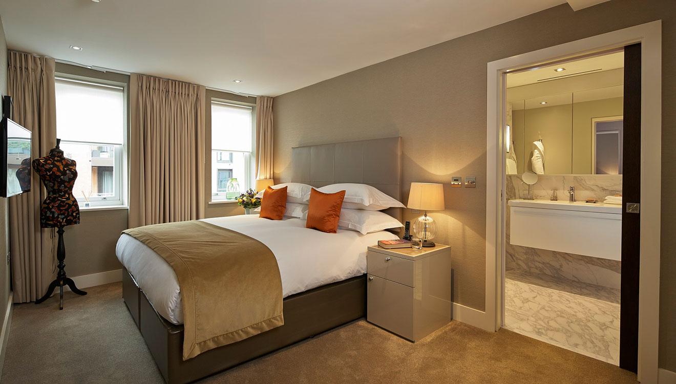 Bed at 126 Cheval Brompton Road Apartments