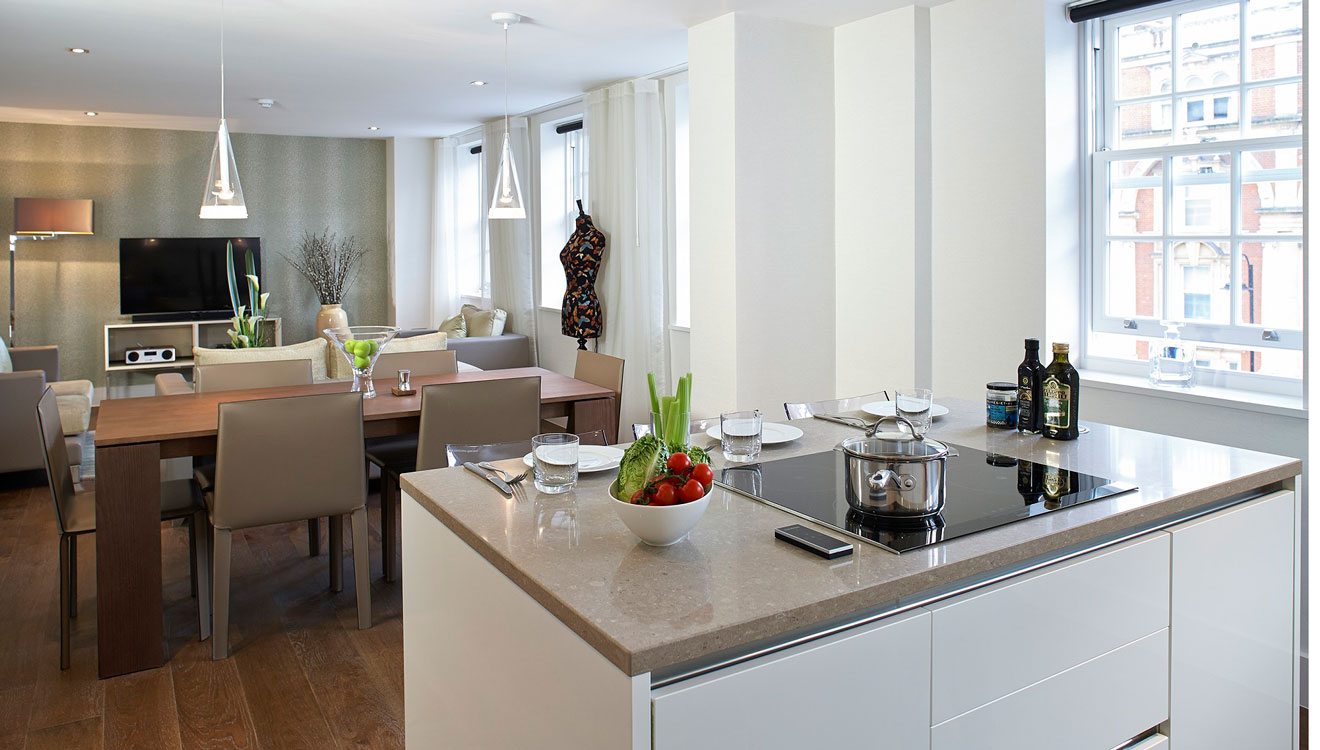 Kitchen at 126 Cheval Brompton Road Apartments