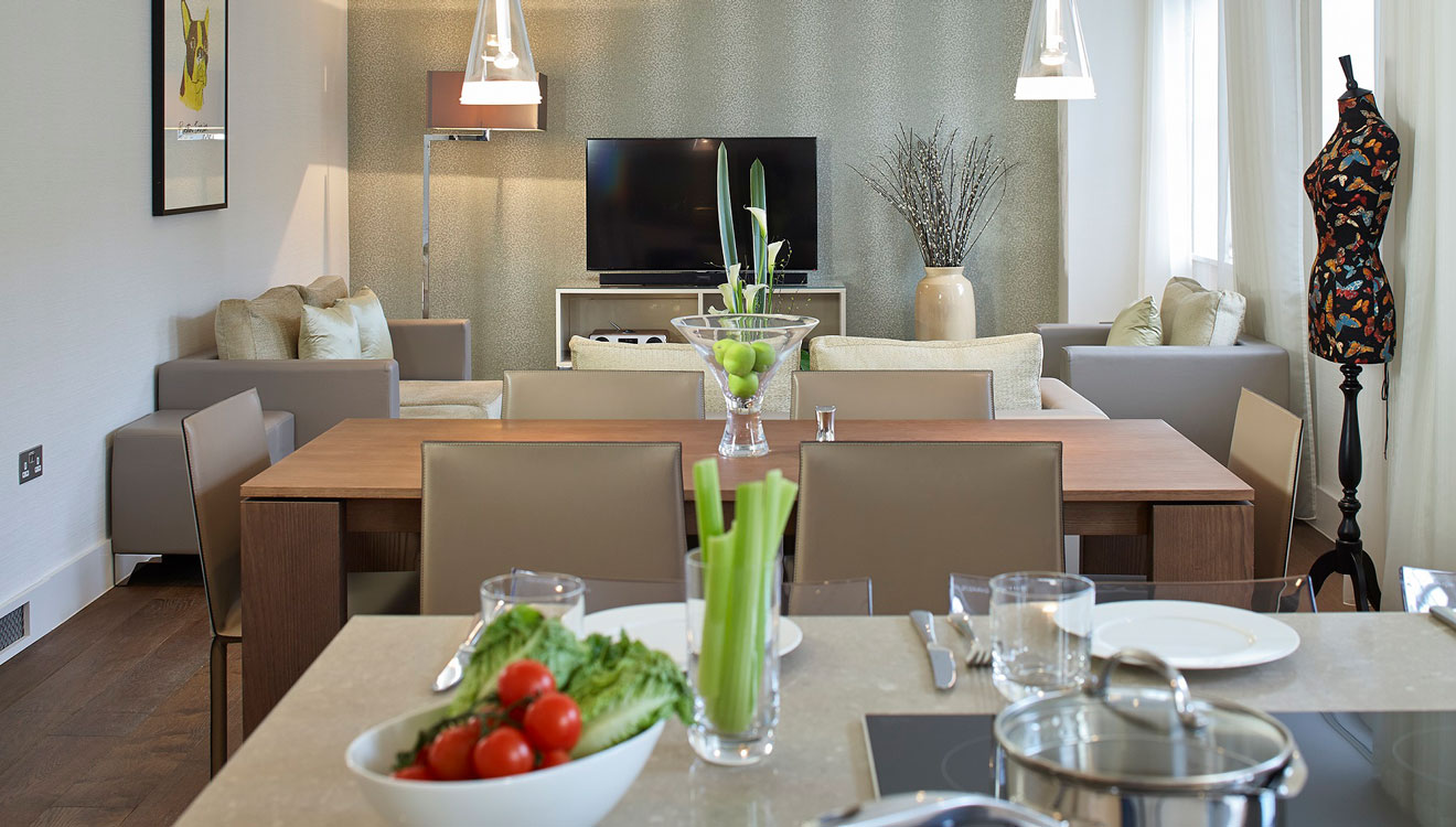 Living area at 126 Cheval Brompton Road Apartments