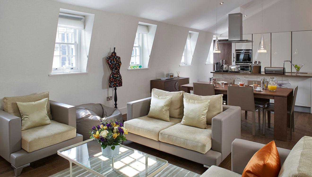 Sofa at 126 Cheval Brompton Road Apartments