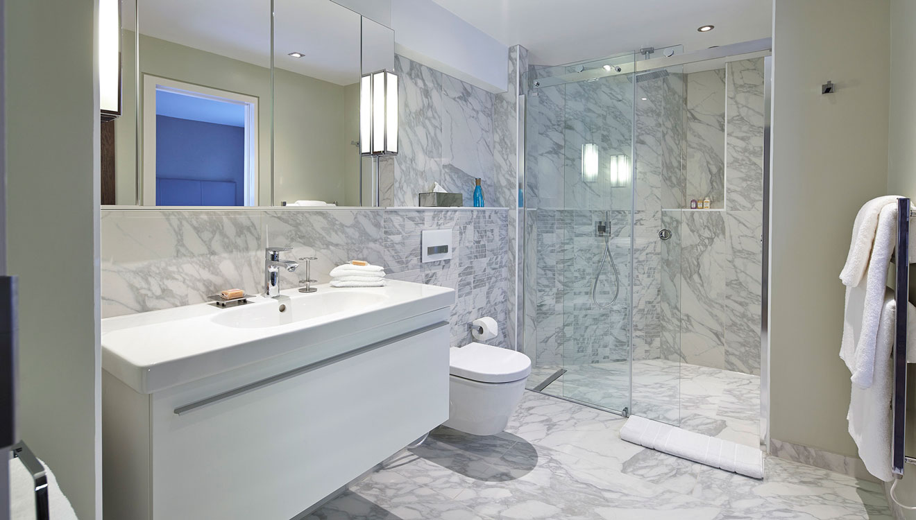 WC and shower at 126 Cheval Brompton Road Apartments