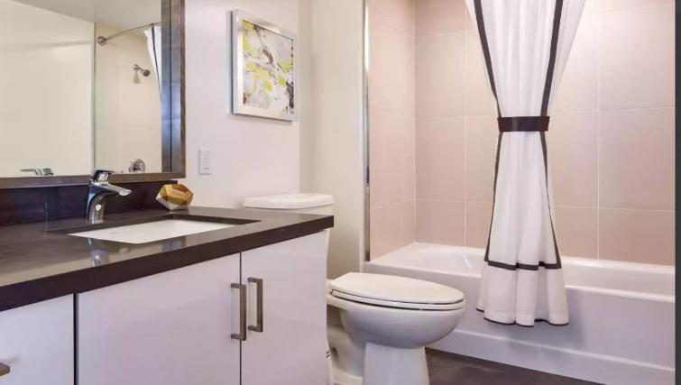 Bathroom at One Henry Adams Apartment