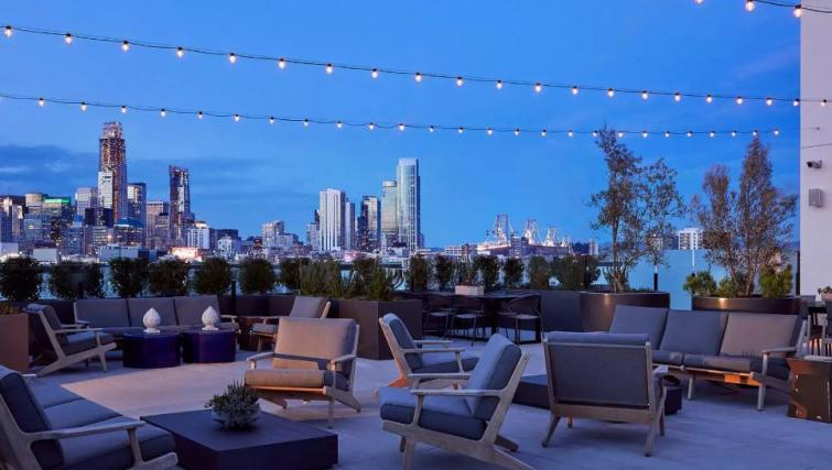Roof gardens at One Henry Adams Apartment