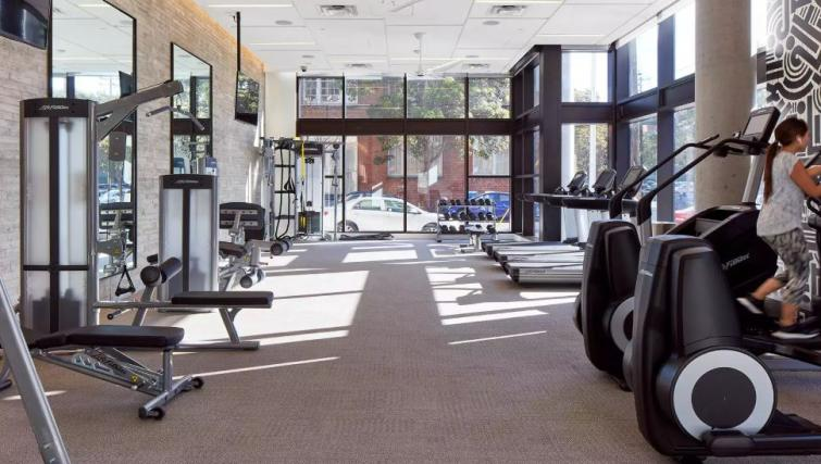 Gym at One Henry Adams Apartment