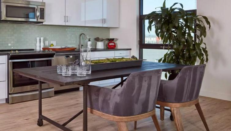 Dining table at One Henry Adams Apartment