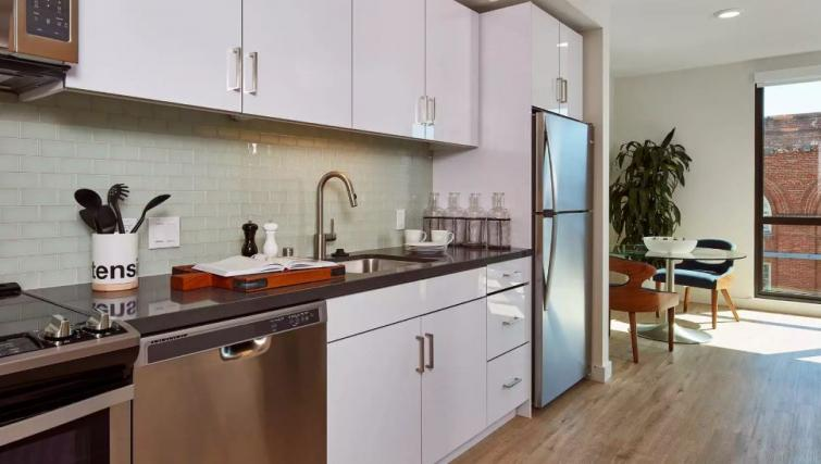 Kitchen at One Henry Adams Apartment