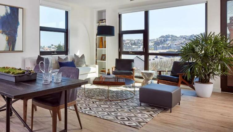 Living room atOne Henry Adams Apartment