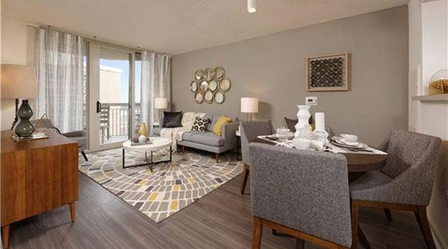 Living room at Avalon Ballston Place