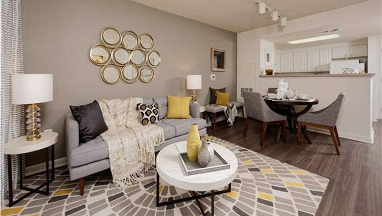 Modern living room at Avalon Ballston Place