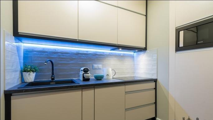 Kitchen at Konstruktorska Apartment