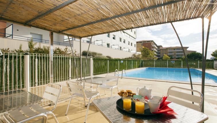 Terrace area at Residhome Occitania