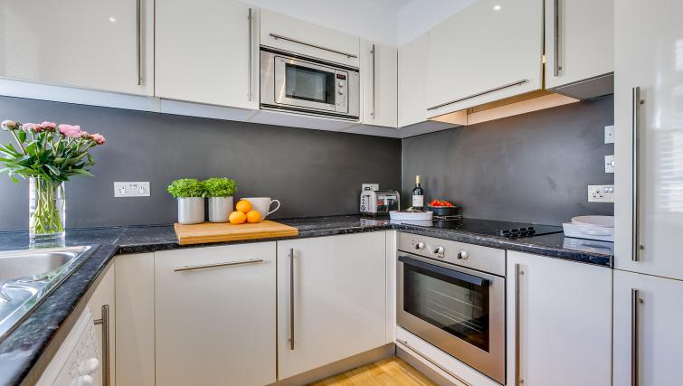 Equipped kitchen at Nell Gwynn Chelsea Accommodation