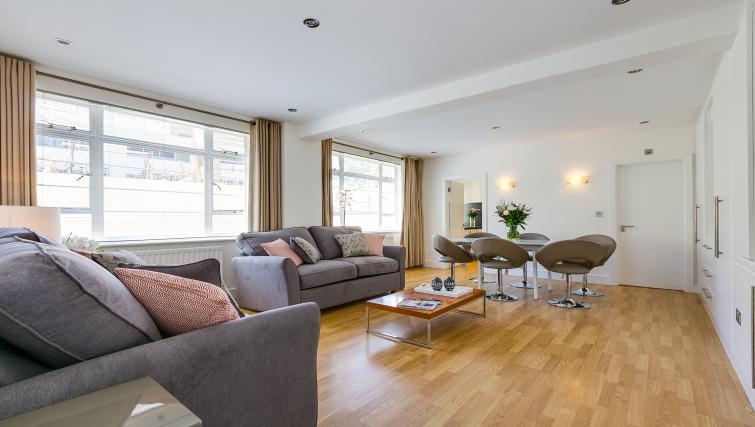 Sofa at Nell Gwynn Chelsea Accommodation