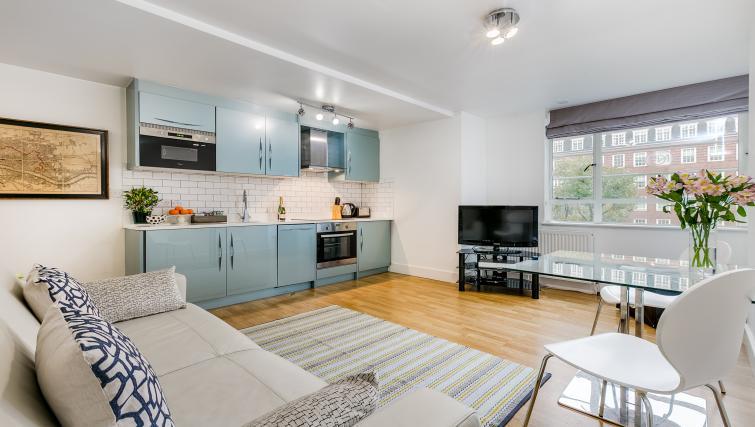 Kitchen at Nell Gwynn Chelsea Accommodation
