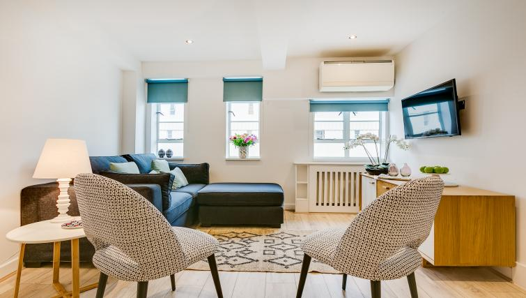 Modern living area at Nell Gwynn Chelsea Accommodation