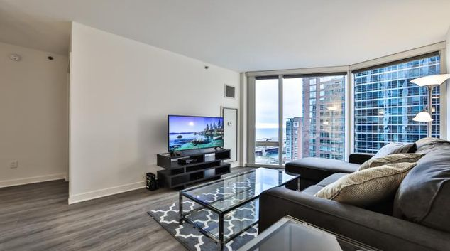 Living room at Moment Serviced Apartments
