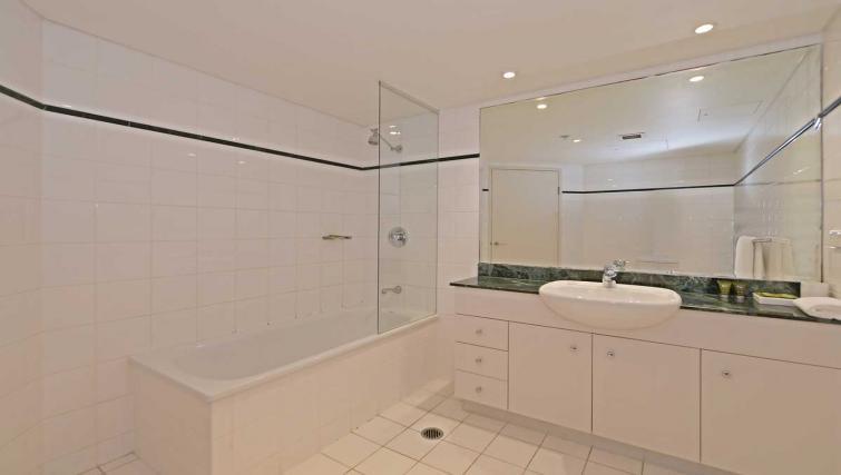Spacious bathroom at Astra Chatswood Apartments