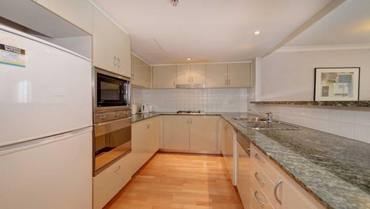 Clean kitchen at Astra Chatswood Apartments