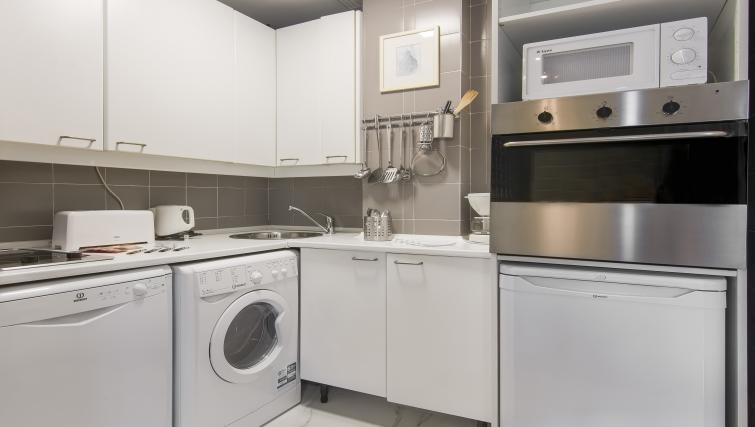 Well equipped kitchen at Ayala Apartments